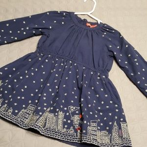 Oilily size 2 Navy winter dress